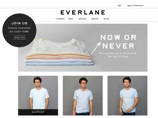 everlane.com screenshot for fathers day gifts